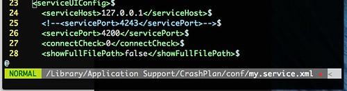 CrashPlan change service port