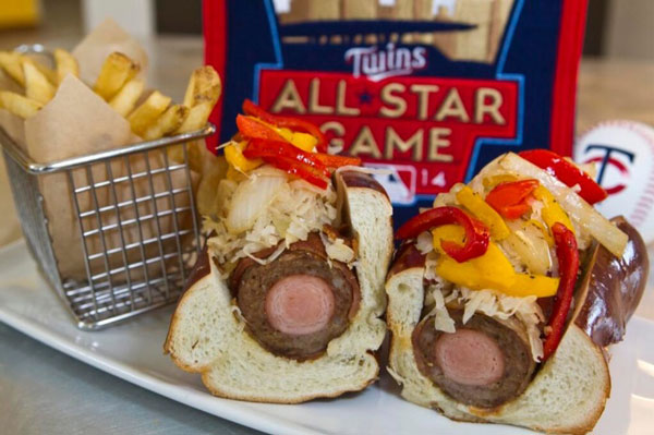 Brat dog, Target Field (Minnesota Twins); Stadium Food