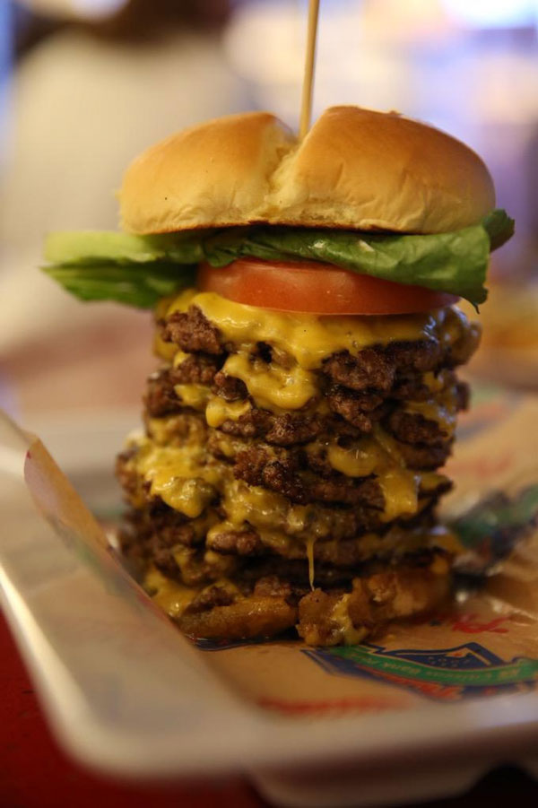 Wayback triple triple cheeseburger, Citizens Bank park (Philadelphia Phillies);Stadium Food