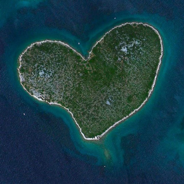 Earth day Images of Lover's Island, Croatia