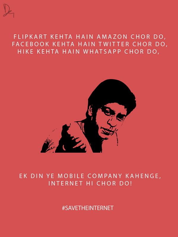 Net Neutrality Posters Shahrukh Khan