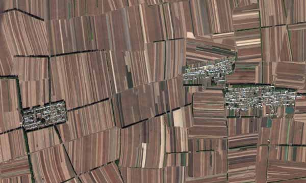 Crop fields in China