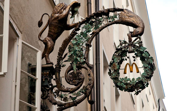Beautiful outlet is found in Salzburg in Austria