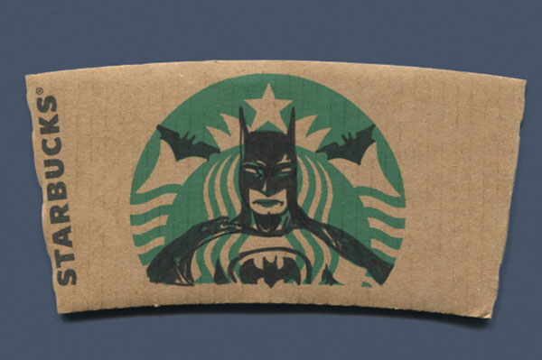 Batman artistic coffee