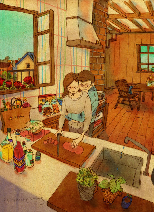 Love is in Little Things like cooking together