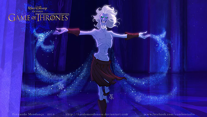 Game of Thrones in walt disney cartoons