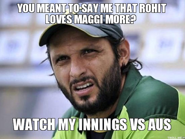 Maggi Trolls Afridi and Rohit Sharma get trolled