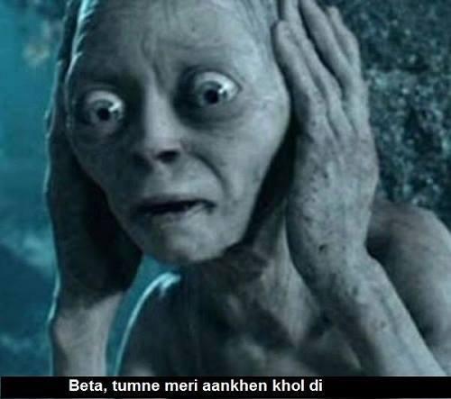 smigel says Beta tumne meri aankhein khol di
