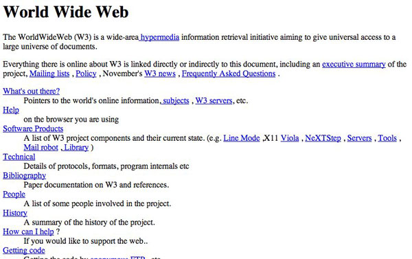 Internet First website went live on August 6, 1991