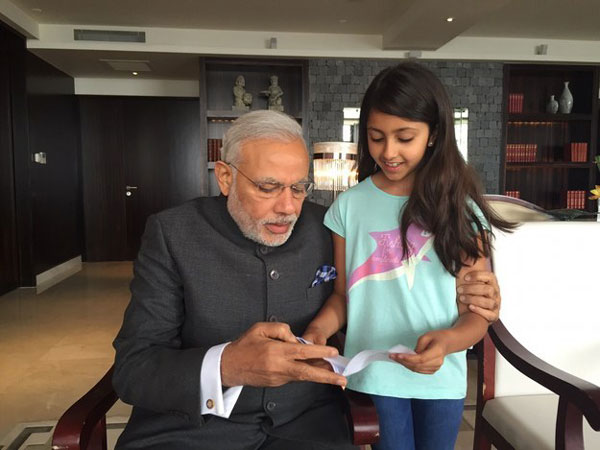 Melody Sabnani donating to narendra modi