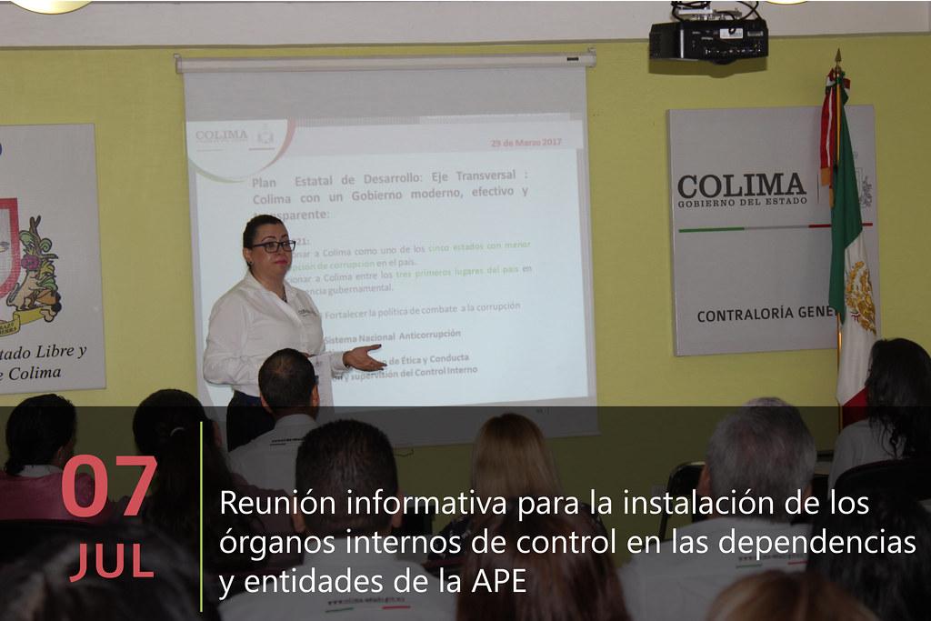 Reunión informativa para la instalación de los órganos internos de control en las dependencias y entidades de la APE