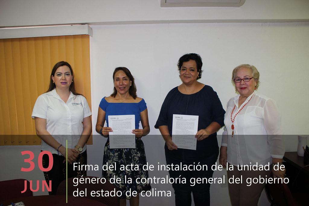 Firma del Acta de Instalacion del Comité de Género