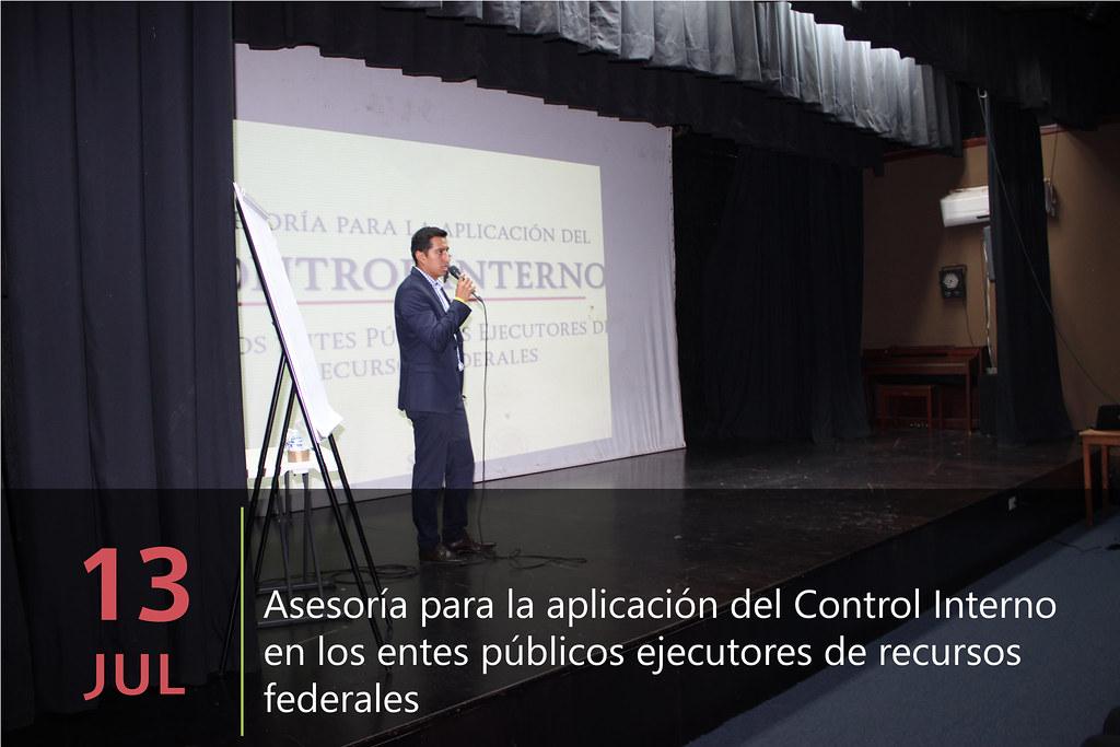 Asesoría para la aplicación del Control Interno en los entes públicos ejecutores de recursos federales