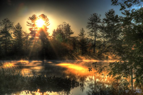 morning usa lake nature fog wisconsin digital america sunrise canon landscape geotagged scenery north northamerica upnorth wi hdr northwoods northernwisconsin hazelhurst photomatix tonemapping oneidacounty canon6d littlebearskinlake hazelhurstwisconsin
