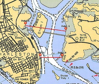 The Coast Guard is establishing a security zone on the waters of the Cooper River and Town Creek Reaches in Charleston Harbor during the Cooper River Bridge Run, Saturday April 5, 2014.