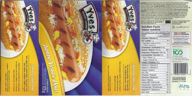 Yves Veggie Cuisine - Jumbo Veggie Dogs