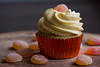 Peaches n' Cream Cupcake by whipdconfections