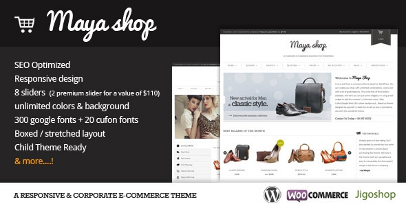 MayaShop v3.1.1 – A Flexible Responsive e-Commerce Theme