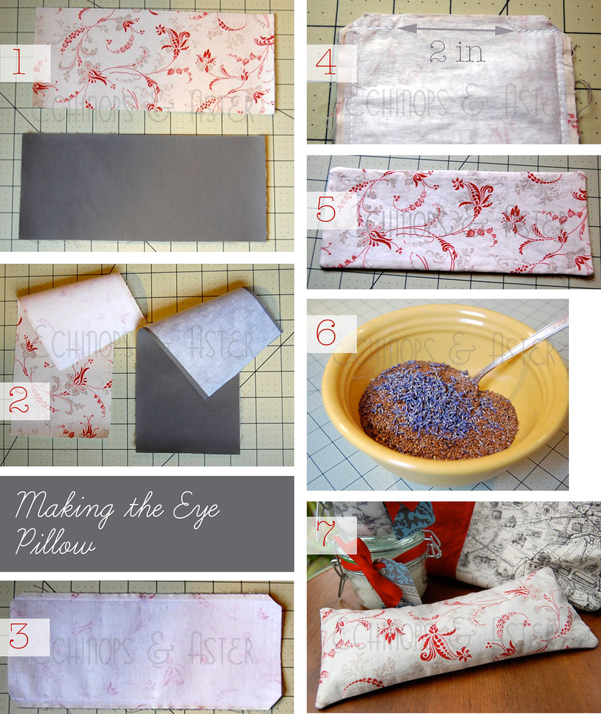 Making the Eye Pillow