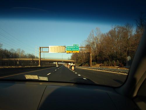 Westbound I-66