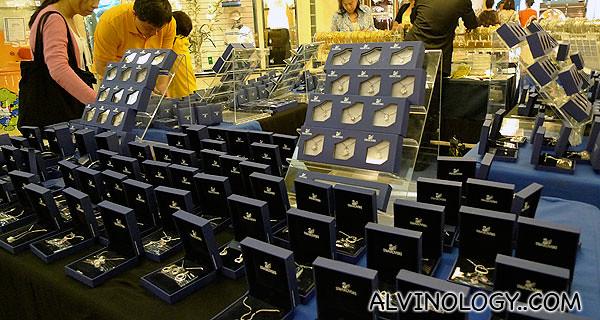 Swarovski crystal merchandises on sale
