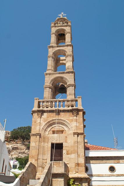 Belltower in Lindos * Колокольня в Линдосе