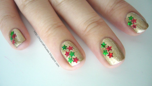christmas nails gold orly luxe 2