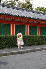 Woman in Kimono Sanjusangendo Kyoto