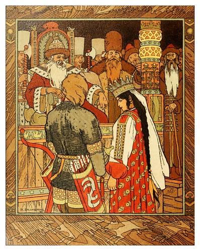 015-Los cuentos de de Iván zarevich, El pájaro de fuego y el lobo gris 1899- Ivan Jakovlevich Bilibin
