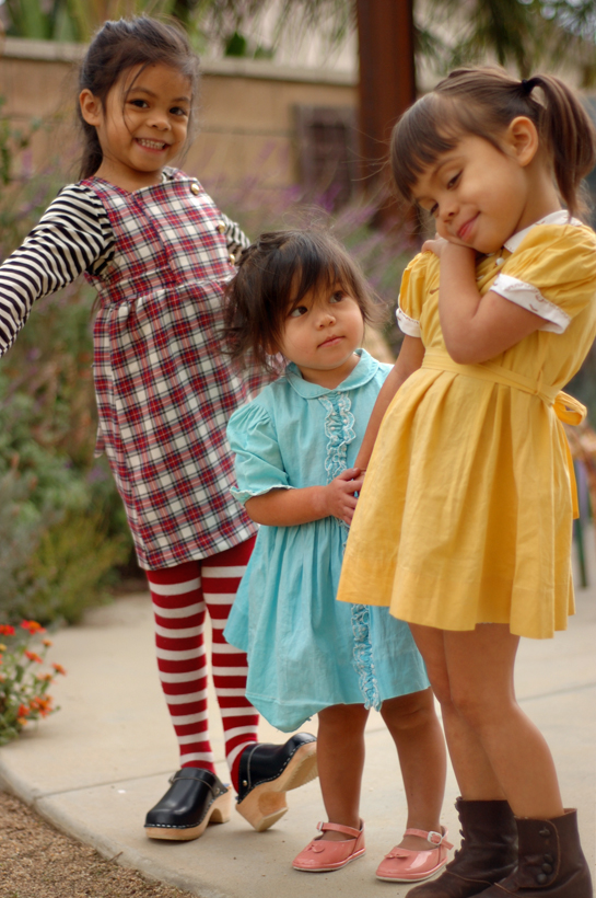 plaid, flowers stripes, mustard, and clogs