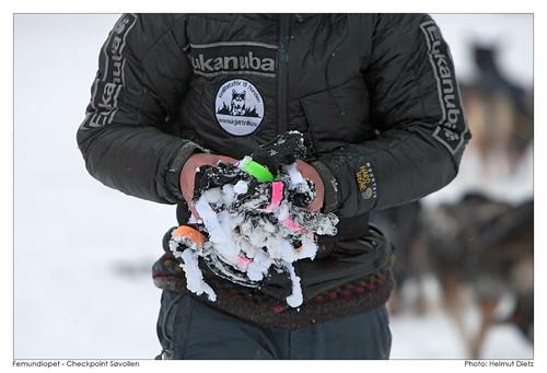 Femundlopet Checkpoint Søvollen: FRozen Booties