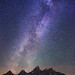 "Stars over Grand Teton Mountain Range by IronRodArt - Royce Bair (""Star Shooter"")"