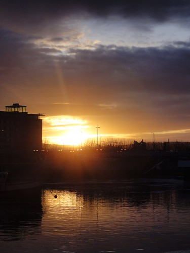 Sun Rise over the River Lagan