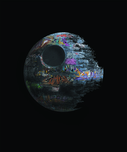 defaced death star