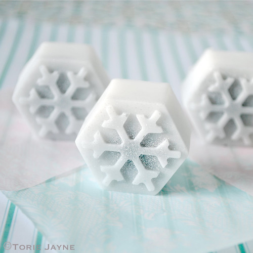 Hand-made Snowflake Soap