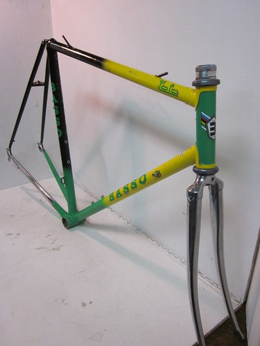 Vintage Basso Italian Road Bike Bicycle Lugged Steel Frame
