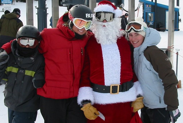 Santa and freeride girls 12-24-05