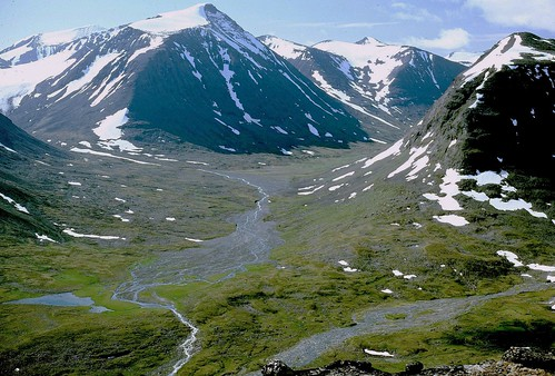 Alkavagge in Sarek National Park in Sweden Sverige