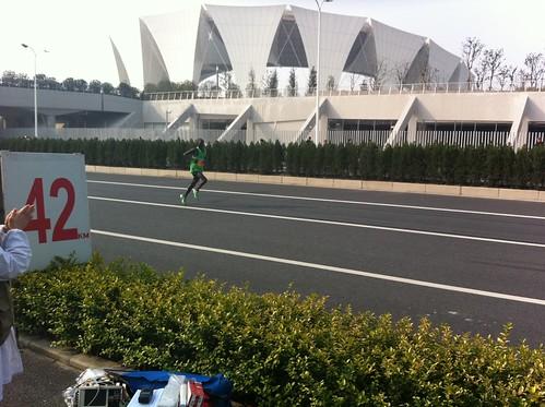 The winner of the Shanghai Marathon