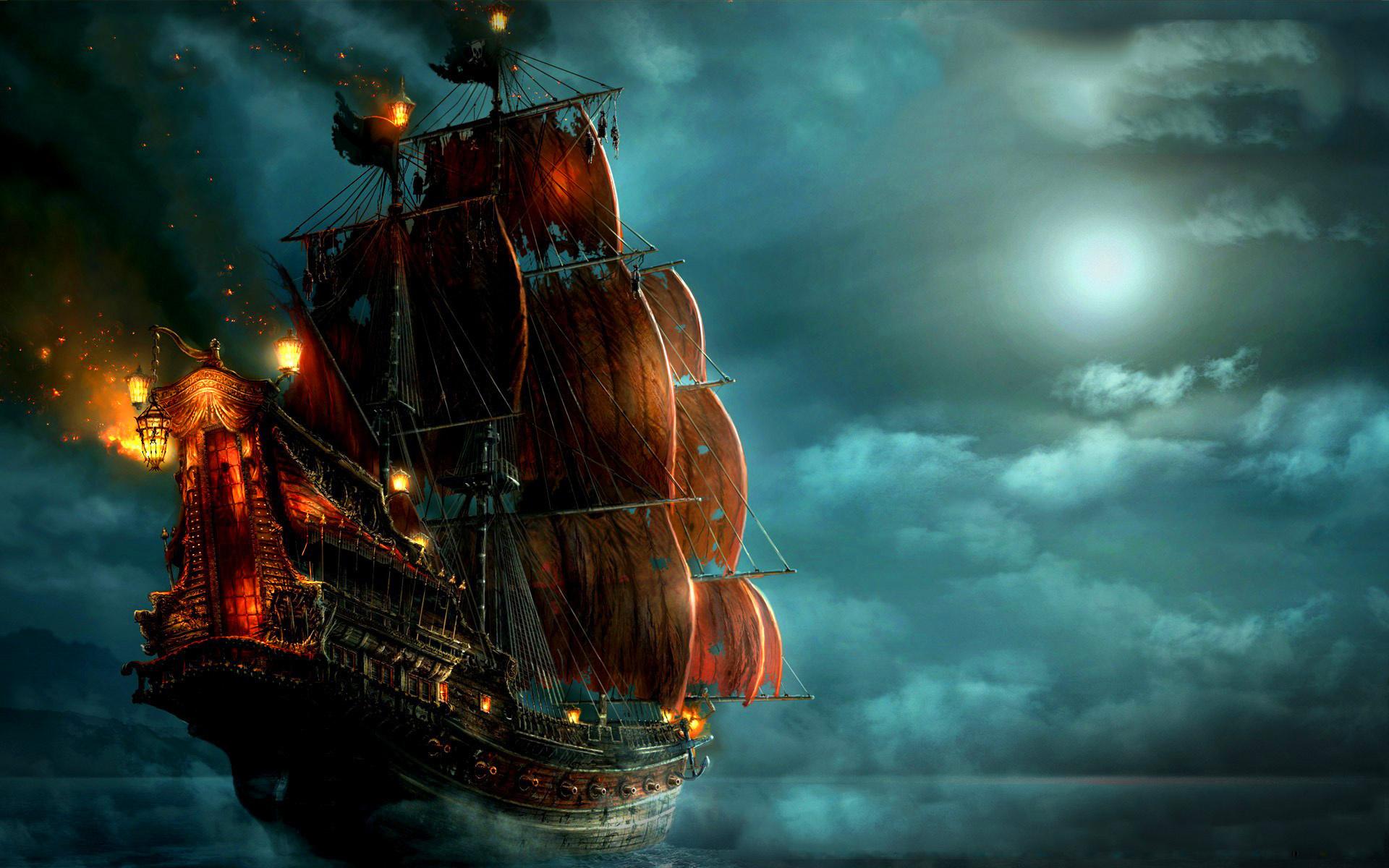 Пиратский корабль картинки - 0105