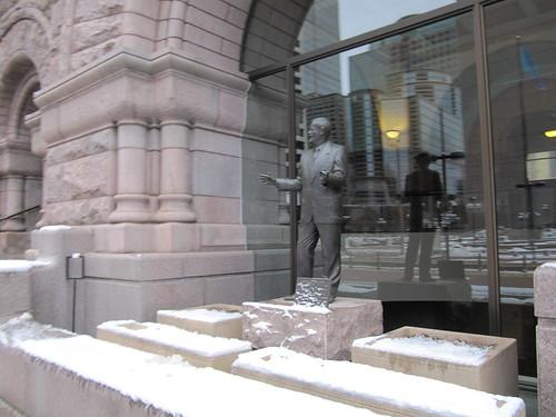 Hubert H Humphrey at City Hall