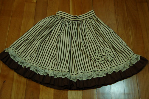 Lolita Closet Count! Skirts: Brown - Bodyline Stripes Skirt