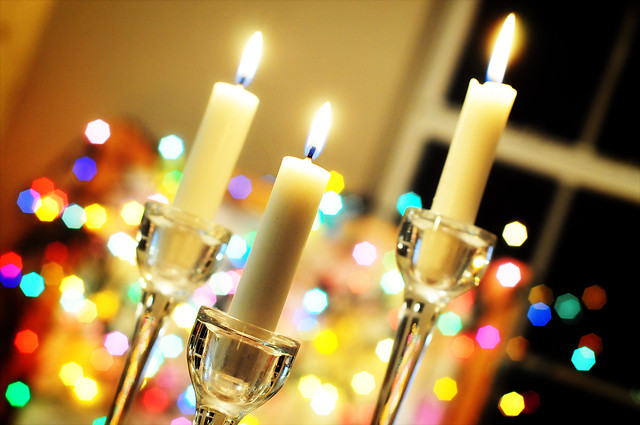 lights by candlelight
