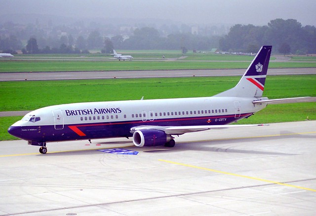 British Airways Boeing 737-400; G-GBTA@ZRH;28.09.1997