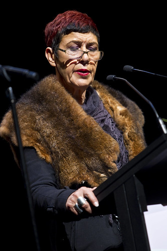 Aunty Carolyn Briggs, Boonwurrung Elder at the official opening of the 5th World Summit on Arts and Culture