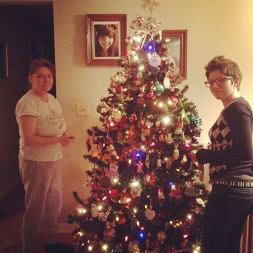 Decorating the tree!
