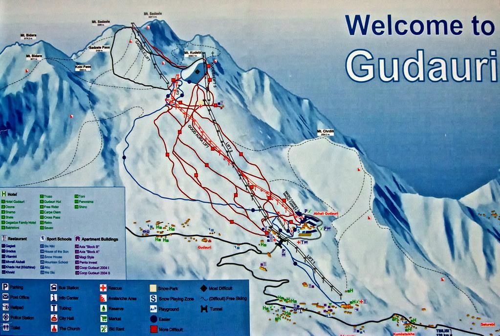 Gudauri map