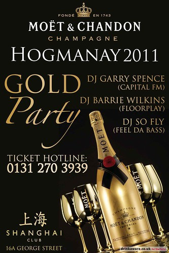 Hogmanay @ Shanghai Club with Garry Spence (Capital FM) and MOËT & CHANDON