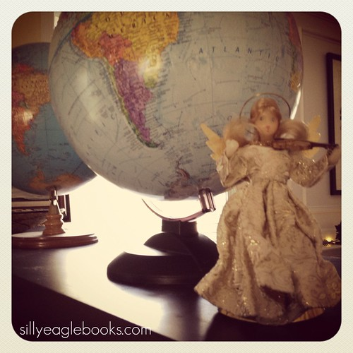 christmas angel and globes