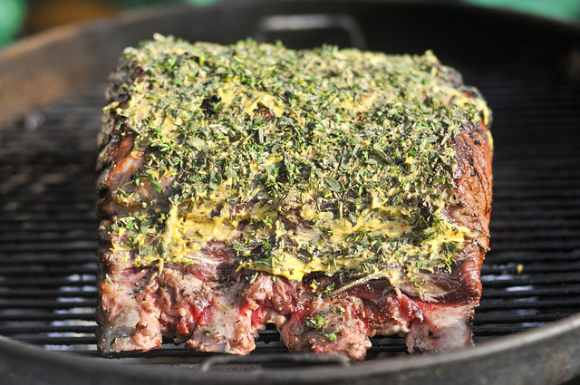 Grill-Roasted Herb-Crusted Standing Rib Roast Recipe :: The Meatwave
